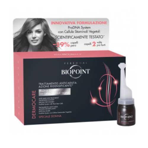 Biopoint Dermocare Trattamento Anticaduta Donna Fiale 12x6ml