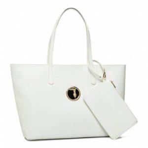 Trussardi Jeans Shopper Sophie Ecopelle - Bianco